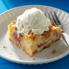 Rhubarb Berry Coffee Cake Recipe