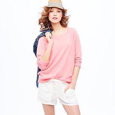 J.Crew cashmere Isabel sweatshirt || So comfy, warm, and versatile.