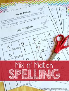 Mix n' Match Spelling Activity Pack - This Reading Mama