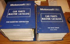 1965 1972 Ford Motorcraft Car Parts Master Catalog 2 Book Set 66 67 68 69 70 71   eBay