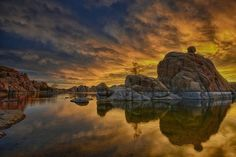 Fire and Water by GayleLucci - Unique Landscapes Photo Contest