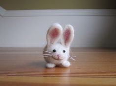 Needle Felted Bunny/Needlefelted rabbit by Halushka on Etsy