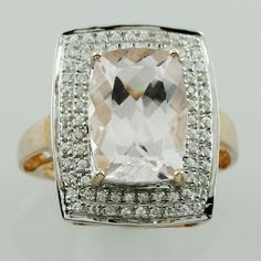 Morganite 7.90 Ct Ring 10K Rose Gold Occasion Wedding Anniversary Top Jewelry #SGL #ExclusiveCollection