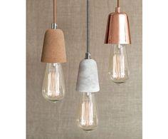 Ando 1 Light Pendant in Concrete | Modern Pendants | Pendant Lights | Lighting