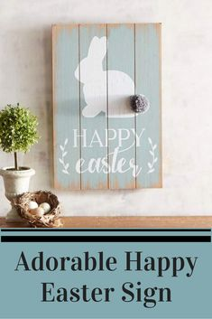 I love the bunny with the cute cotton tail. Spring Crafts, Holiday Crafts, Happy Easter, Easter Bunny, Easter Projects, Easter Treats, Coastal Decor, Spring Time, Wood Crafts