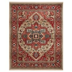 Lauren Ralph Lauren Quentin Traditional Medallion Rug with Fringe x - Red/Beige), Brown Area Rug Sizes, Area Rugs, Rug Size Guide, Oriental Pattern, Rug Shapes, Fashion Room, Home Decor Trends, Online Home Decor Stores, Colorful Rugs