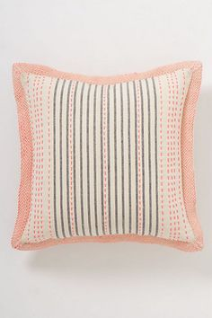 Anthro Stitch-Striped PIllow