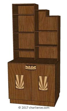 Tds The Design Service New Art Deco Skyser Style Stepped Kitchen Dresser In A