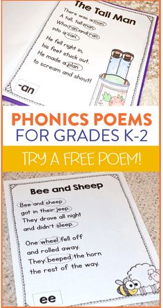 Phonics Poetry Freebie! - Susan Jones