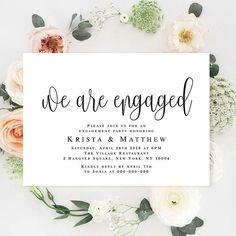 Engagement Invite Templates Delectable Engaged Invitation Engagement Invitation Template Printable .