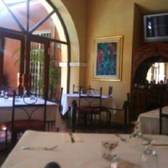 Inside La Barrachina restaurant for lunch in Old San Juan, Puerto Rico
