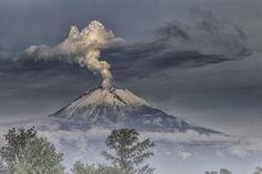 Smoking Volcano and Fog