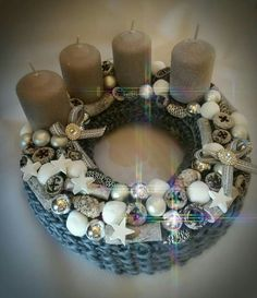 Hanukkah, Christmas Wreaths, Decoration, Christmas Candles, Holiday Wreaths, Flowers, Decor, Decorations, Decorating