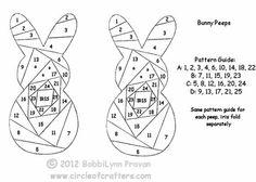 Bunny Peeps Iris Fold