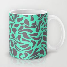 Wild Side - Mint Mug by AnishaCreations - $15.00