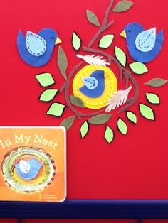 In My Nest by Sara Gillingham Making this flannel board was great fun! It is a warm, gentle, loving story o. Flannel Board Stories, Felt Board Stories, Felt Stories, Flannel Boards, Summer Activities For Kids, Book Activities, Preschool Activities, Education And Literacy, Early Literacy