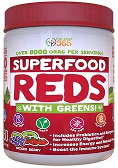 Ranking the best superfoods of 2020 Vital Reds, Thrive Diet, Whole Food Multivitamin, Green Superfood, Superfood Powder, Organic Superfoods, Vitamins And Minerals, Whole Food Recipes, Nutrition