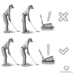 A clubhead resting on its toe can lead to a push