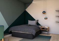 Bedroom Wall Designs, Wall Decor Design, Bedroom Wall Colors, Living Room Colors, Bedroom Themes, Bedroom Decor, Boys Bedroom Paint, Home Bedroom, Room Wall Painting
