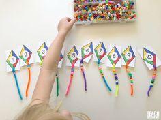 Kite Themed Preschool Math - Teach Beside Me