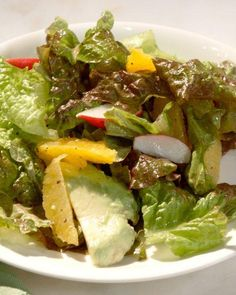 Orange and Avocado Salad Recipe- just add chicken for a healthy dinner option