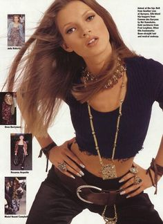 Davy Davidson — Kate Moss, Allure 1992