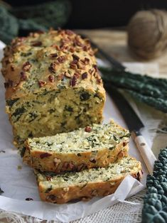 Savory Kale and Feta Bread is hearty and packed with nutrition. Serve warmed with some butter for a filling side.