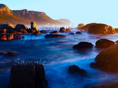Clifton Beach Mountain View Cape Town South Africa by Charl Bruwer Table Mountain, Mountain Range, Mountain View, Calming Images, Clifton Beach, Cape Town South Africa, Random Stuff, Waterfall, Colorful