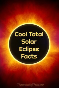 cool total solar eclipse facts - Homeschooling Today Magazine