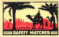 USSR MATCHBOX LABEL (cm. 10,7 x 6,8)
