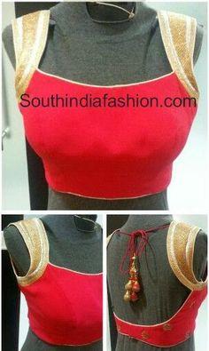 Latest Saree Blouse with Deep Back Neck ~ Celebrity Sarees, Designer Sarees, Bridal Sarees, Latest Blouse Designs 2014