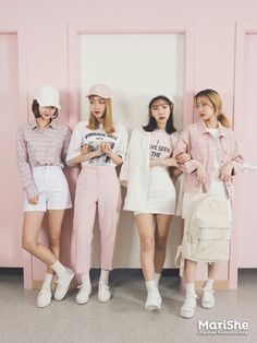K Daily 2016 girlfriend look (MT) Korean Street Fashion, Korea Fashion, Japan Fashion, Look Fashion, Girl Fashion, Fashion Outfits, Womens Fashion, Colourful Outfits, Cool Outfits