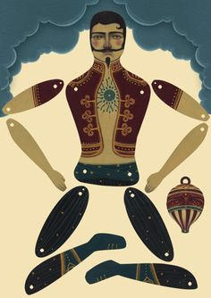 circus man paper doll Auf pickle-town.typepad.com http://www.pinterest.com/sandrajswisher/jointed-paper-dolls/
