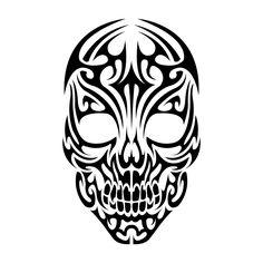 Tribal Skull by Shadow696.deviantart.com