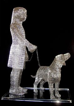 While most people use paperclips in an office to hold documents together, Italian artist Pietro D'Angelo uses the tiny metallic fasteners to create figurative sculptures. Originally, the artist worked with conventional sculpting materials (marble and clay) but eventually transitioned into his current medium of choice to skillfully display both objects and the human form.
