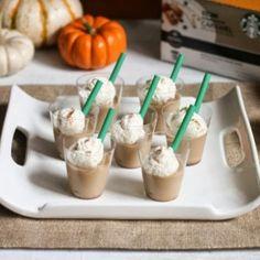 Pumpkin Spice Latte Jello Shots, how I will get drunk this thanksgiving lol!