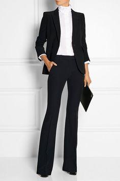 2018 Ofis Kombinleri Siyah İspanyol Paça Pantalon Ceket Takım