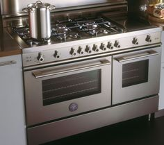 6 burner gas stove with double oven (stainless steel)