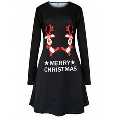 927ce7658c0a SHARE & Get it FREE | Merry Christmas Elk Printed Swing DressFor Fashion  Lovers only: Clothing SitesDresses OnlineSwing ...