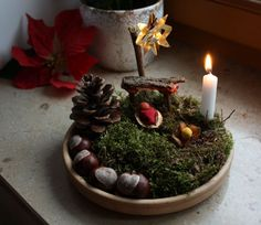 Explore and Express: Advent - love the nature play idea.