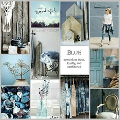 BLUE is good for you! Moodboard Inspired BY COLOR #blue #interior
