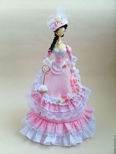 розовый,тряпиенсы,тряпиенса,текстильная кукла,интерьерная кукла,кукла из ткани,кукла ручной работы,текстильная барби,старинный стиль,корейские тряпиенсы,коллекционная кукла