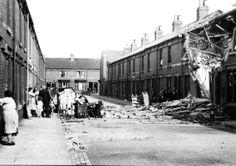 Bomb damage Faulder Road WW2
