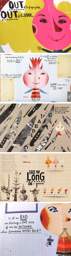 Illustrations for 'The Onion's Great Escape' by Sara Fanelli