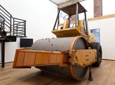 The Music Box, A Working Music Box Made Out of a Massive Soil Compactor Machine - Dave Cole (there's a video, watch it, it's really quite fascinating)