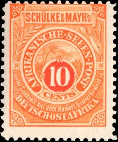 German East Africa 1892. Private Shipmail. Schülke & Mayr. 10 Cents