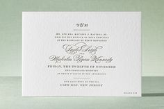 Charming Go Lightly Letterpress Wedding Invitations by Cheree Berry Paper at minted.com WELCOMEZZY68