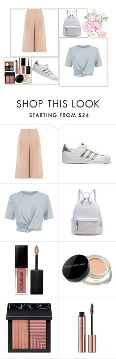 """""""Back To School #1"""" by dilsad-cangr on Polyvore featuring moda, BCBGMAXAZRIA, adidas Originals, T By Alexander Wang, Smashbox, Marc Jacobs, NARS Cosmetics ve MAC Cosmetics"""