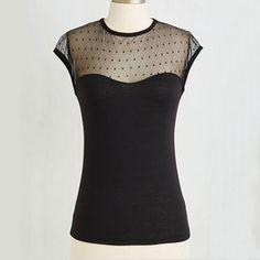 Women Steampunk Rockabilly Retro 50S Pin-Up Top T-Shirt Lace Black Sheer Top
