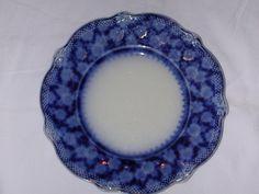 Clarence Grindley Flow Blue Patterns | Grindley Grace pattern flow blue plate, ca. 1897-1900.